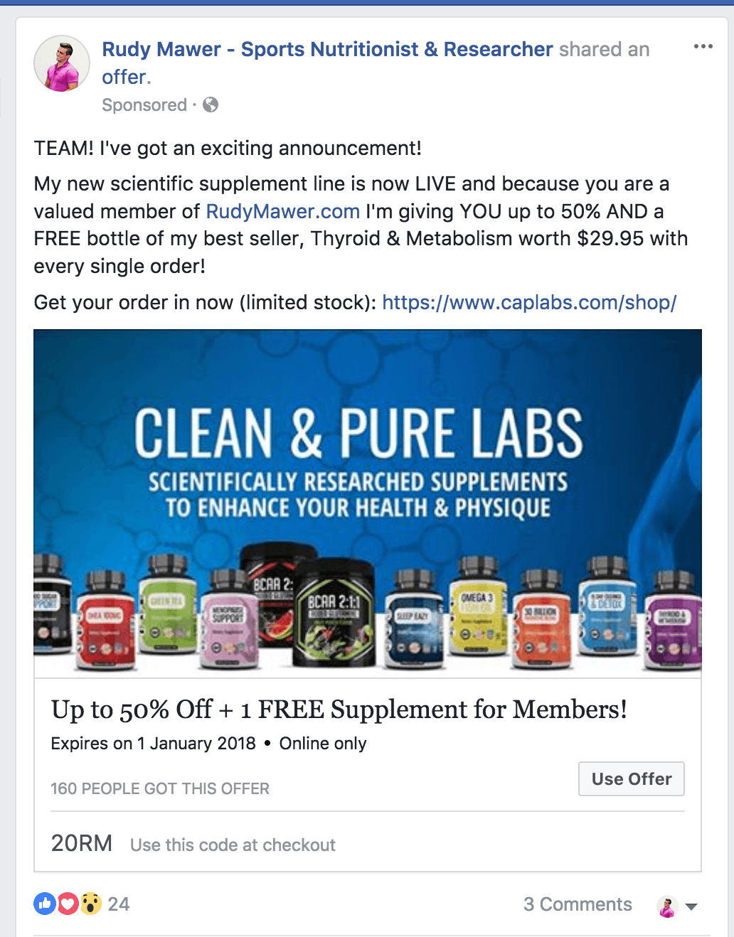advertising coupons for facebook